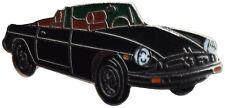 MG MGB rubber bumper car cut out lapel pin - Black body