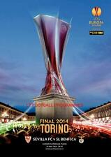 * Benfica vs Sevilla 2014 UEFA EUROPA LEAGUE FINAL OFFICIAL Programm *