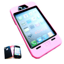 Heavy Duty Builders Workman Pink  Armour Case for iPhone 4 & 4S - *STURDY*