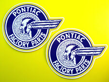 Pontiac Factory Parts Retro vintage style Stickers x2