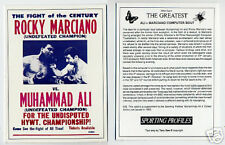 Muhammad Ali RARE Marciano Card