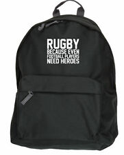 Rugby Because Even Football Players Need Heroes kit bag backpack