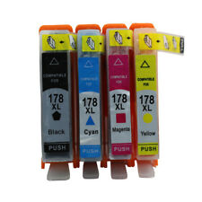 4x Ink Cartridge Compatible For HP178 178XL Photosmart B209a B210a B109a B109n