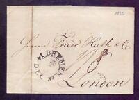 Vorphilabrief Altbrief Bremen 1832 mit Schlüssel-Stempel nach London (056)