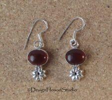 Carnelian 925 Silver Earrings