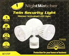 Nightwatcher Twin Head Security Motion Activated LED Sensor Light - NE15TSP