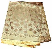 Elephant  Pattern Thai Silk Scarf/ shawl from Thailand (US Seller)