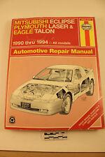1990-1994 MITSUBISHI ECLIPSE PLYMOUTH LASER EAGLE TALON Automotive REPAIR MANUAL