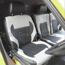 MERCEDES SPRINTER 2012 VAN SEAT COVERS BLACK AND GREY LEATHERETTE