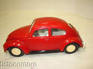 """VINTAGE TONKA VW BEETLE VOLKSWAGEN CAR PRESSED STEEL METAL RED 1960s 8"""""""