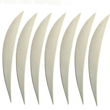 """50pcs 5"""" Natural Turkey Feather Left Wing Fletches Fletching Archery Hunting DIY"""