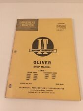 Vintage Implement & Tractor Shop Manual - Oliver  Cockshutt 1800 1850 1900 1950