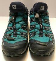 Womens Salomon X-Ultra 2 Gore-Tex XCR Blue/Green Hiking/Trail Shoe US Size 9