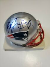 New England Patriots BENJARVUS GREEN ELLIS Signed Autographed mini helmet COA