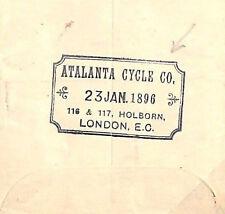 MS2686 1896 GB *ATALANTA CYCLE Co* Advert Postal Stationery Germany BICYCLES
