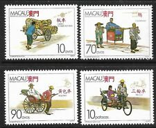 STAMPS-MACAO. 1987. Traditional Vehicles Set. SG: 656/59. Mint Never Hinged