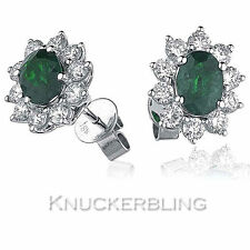 Emerald Yellow Gold 18 Carat Fine Earrings