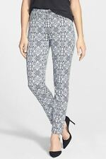 Jen 7 by 7 For All Mankind Mediterranean Jacquard Skinny Jeans 6 NWT! $215