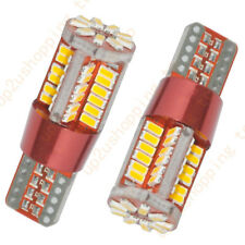 2x Warm White Canbus Error Free Car T10 LED 57-smd Wedge Light Bulb W5W