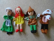 fiesta crafts hand puppet grandma & wolf  little red riding hood  woodman x 4