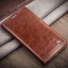 Handy Echtleder Tasche Etui Cover Flip Case Leder Hülle Back Smartphone Zubehör