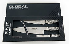 GLOBAL Kochmesser  3er Set - 20cm/16cm/8cm Klinge in Geschenkbox G-26115R
