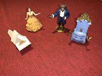 "4 pcs lot Disney Jakks Beauty & The Beast PVC Enchanted Figures Cake Toppers 4"""