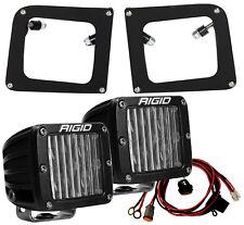 Rigid Fog Light Kit w/ DOT/SAE D-Series PRO LED Lights for 14 15 GMC Sierra 1500