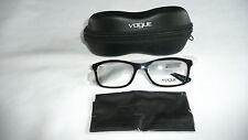 Vogue Eyeglass/ Glasses Frames with Case VO 2968 W44 Black 52-16-135 >NEW<