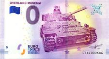 14 COLLEVILLE Overlord Muséum 3, N° de la 7ème liasse, 2018, Billet 0 € Souvenir