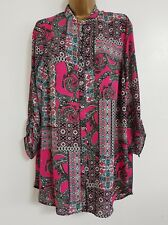 NEW Plus Size 16-28 Paisley Print Pink Black Green Blouse Shirt Top Tunic