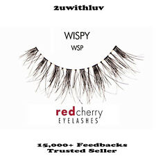 5 X RED CHERRY 100% HUMAN HAIR BLACK FALSE EYE LASHES #WSP AUTHENTIC FROM US
