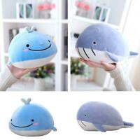 Cute Light Blue Jinbei San Smiling Whale Shark Plush Doll Stuffed Toy Gift 2019