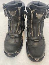 Harley Davidson Leather Brake Light Mens Black Boots Biker Motorcycle Shoes 7