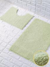 New Shiny Loop Pedestal 2 Piece Bathroom Mat Anti Slip Soft Absorbent Bath Rug