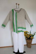 Julia LAGENLOOK Sommer Pullover EG 44 46 48  mit Streifen 3-farbig asymm.NEU