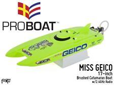 PRO BOAT MISS GEICO 17-inch Brushed Catamaran Boat w/2.4GHz Radio PRB08019