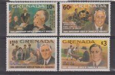 """Granada: 1982: nacimiento Franklin D. Roosevelt centenario de"""""""", estampillada sin montar o nunca montada Conjunto."""