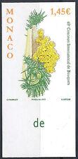 MONACO n° 2962, BOUQUET DE ROSES, NON DENTELE IMPERF, TB ** et RARE