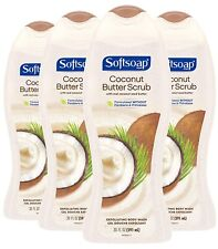 Softsoap Exfoliating Body Wash Scrub Coconut Butter - 20 fluid ounce 4 Pack