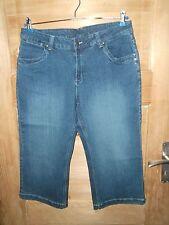 Damen 3/4 Capri Jeans - Hose *** ELLE NOR *** stretch mittelblau Gr. 42 Top Neu