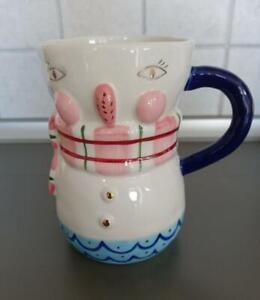 The Art of Anthropologie Snowman Mug Birdcanfox new