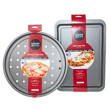 2 Piece Wham Non-stick Steel Baking Trays Set Assorted Pizza Oven Cooking Dishes
