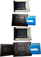 Lot of 4 Leather money Clip, Money holder, Black/Brown money clip card case bnwt