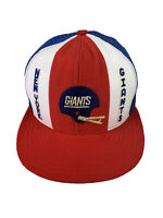 VTG New York Giants Snapback Trucker Hat AJD Lucky Strike Red White Blue Cap