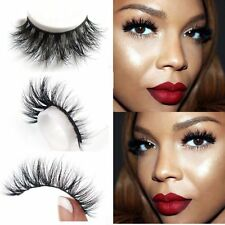 Soft 3D 100% Real Mink False Eyelashes Extension Cross Messy Eye Lashes 1 Pairs