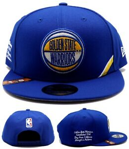 Golden State Warriors New Era 9Fifty NBA Draft Stage Blue Gold Snapback Hat Cap