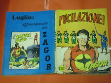 ZAGOR ZENITH- ORIGINALE- N°111 b -LIRE 200- (ZAGOR gigante N°60)-1970-con poster