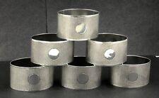 More details for set of 6 sterling silver engine turned oval napkin rings birmingham 1933