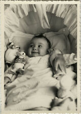 PHOTO ANCIENNE - VINTAGE SNAPSHOT - ENFANT BÉBÉ JOUET DONALD - CHILD OLD TOY